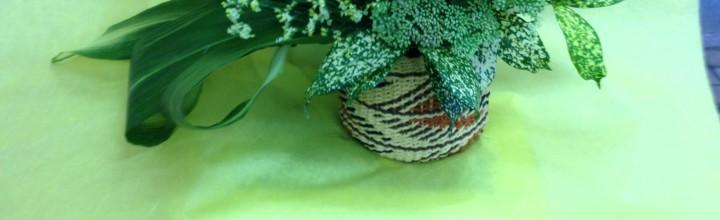 グリーンのボリュームアレンジ